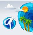 businessman go to tropics vector image