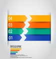 Modern arrow infographic vector image