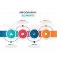 abstract colorful timeline circle business vector image