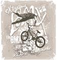 BMX extreme free style vector image