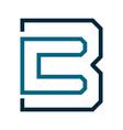 cb letter initial logo design template vector image