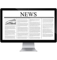 computer with news article on screen vector image