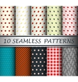 decorative patterns collection vector image