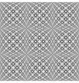 Design seamless monochrome warped grid pattern vector image