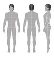 Fashion man full length template vector image