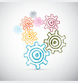 Hand Drawn Abstract Cogs - Gears vector image