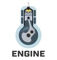 Moto engine symbol vector image