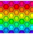 Multicilored hexagon geometric pattern vector image
