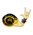 rock and roll snail vector image