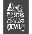 Halloween lettering inscription vector image