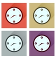 Concept flat icons with long shadow time is money vector image