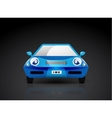 Blue sports car icon - front view vector image vector image