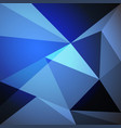 low poly design element on blue gradient vector image