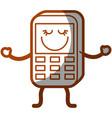 happy phone icon vector image