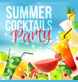 Cocktail party poster vector image