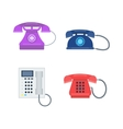 Telephones icons device vector image