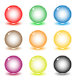 coloured spheres vector image