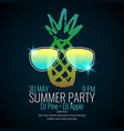 modern poster summer party with a pineapple vector image