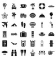 travel luggage icons set simple style vector image