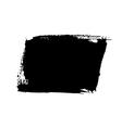 Grunge background rectangle black vector image