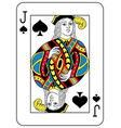 jack of spades french version vector image vector image