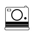 sketch silhouette image instant photo camera vector image vector image