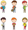 school boys vector image