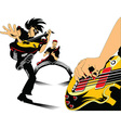 Cartoon rock musician vector image vector image