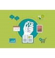 Distance education e-learning and mobile vector image