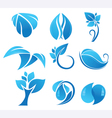 blue flower icons vector image