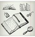 Doodle Books Set vector image