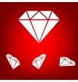 Diamond icon - set vector image