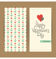 valentine card with hearts vector image vector image