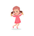 beautiful girl feeling happy with her ice creams vector image