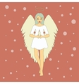 Cute Christmas Angel with Candle vector image