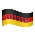 German flag waving with word Germany on white vector image