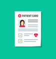 patient card isolated flat vector image