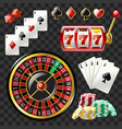 set of casino objects - modern realistic vector image