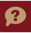 The question mark icon Help speech bubble vector image