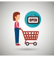 woman shopping design vector image