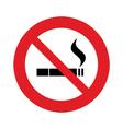 not smoke vector image vector image