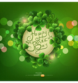 green background the holiday svPatrika vector image vector image