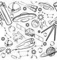 Pattern with space elements vector image