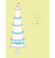 Cute wedding invitation card with a dots backgroun vector image