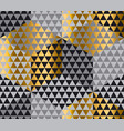 gold and black geometry hexagon seamless fabric vector image vector image
