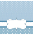 Blue card or invitation with white polka dots vector image