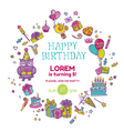 Birthday Invitation Card vector image vector image