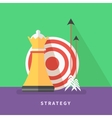 Concept for business strategy and mission vector image