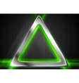 Metal background and green glowing light vector image