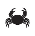 Icon of crab vector image